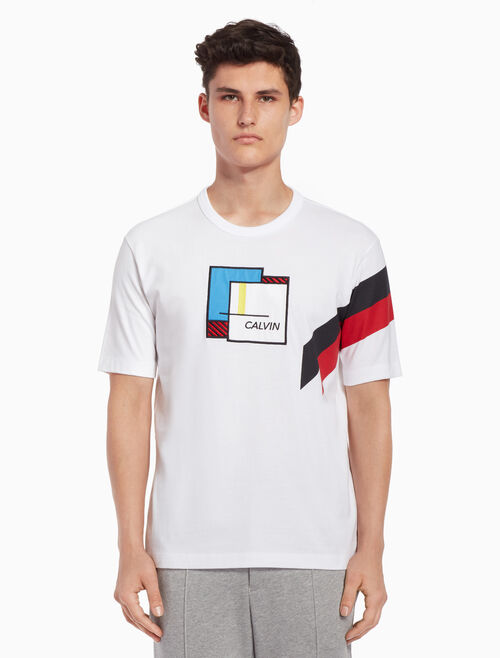 CALVIN KLEIN Color block ロゴ T シャツ