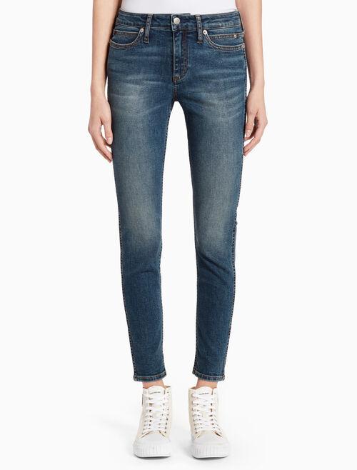 CALVIN KLEIN BOOBERA BLUE 塑型貼身及踝牛仔褲