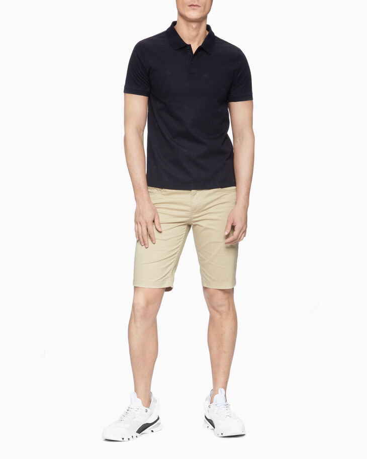 CALVIN KLEIN TONAL EMBROIDERED POLO SHIRT