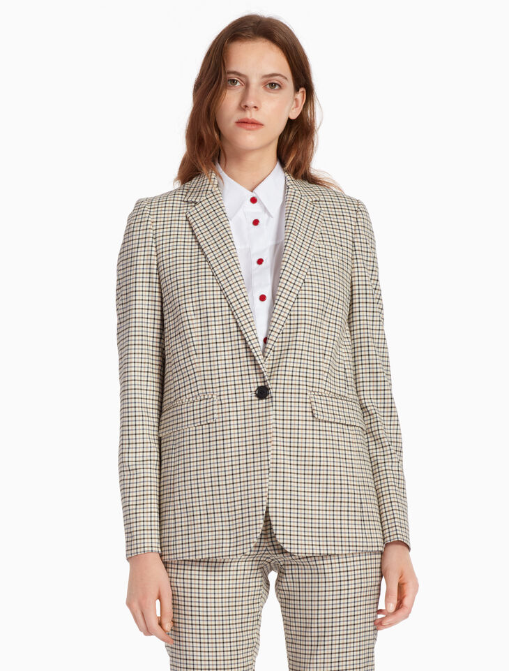 CALVIN KLEIN GROUND CHECK JACKET