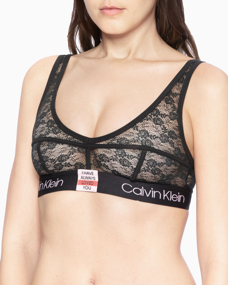 CALVIN KLEIN VALENTINE DAY CAPSULE UNLINED SHEER 레이스 브라렛