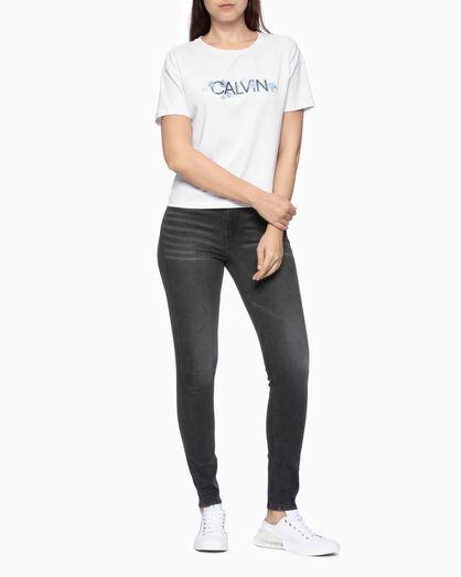 CALVIN KLEIN GLOSSY ROSE ロゴ T シャツ