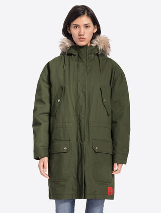 CALVIN KLEIN PADDED COTTON PARKA JACKET