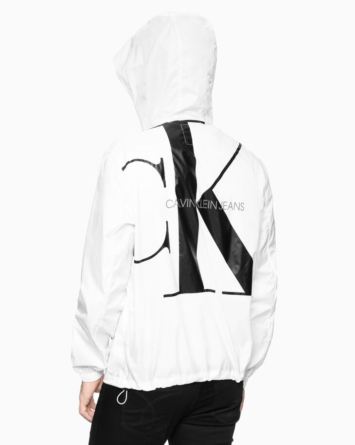 CALVIN KLEIN MONOGRAM HOODED ZIP UP JACKET