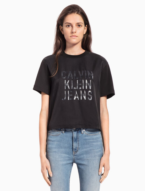 CALVIN KLEIN 三重標誌上衣