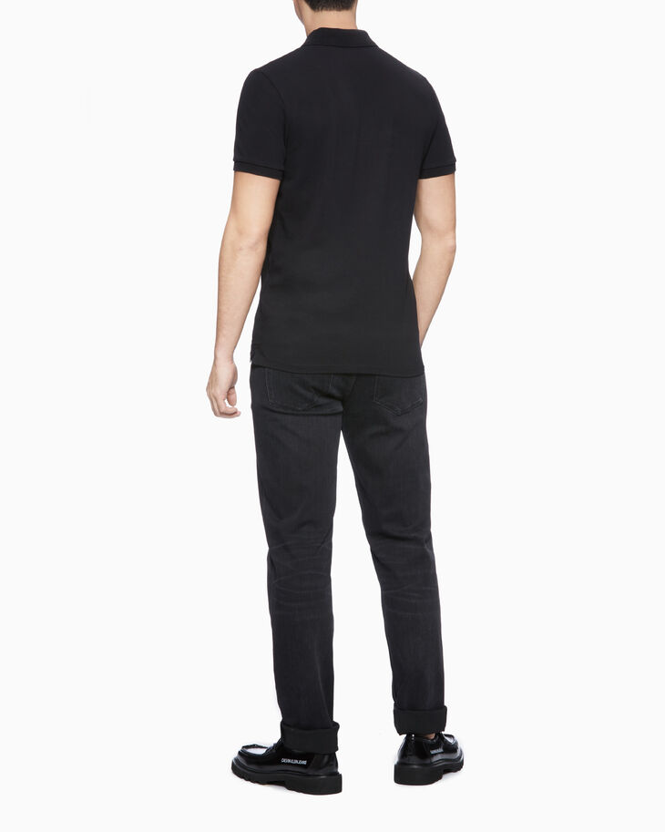 CALVIN KLEIN INSTITUTIONAL LOGO SLIM POLO SHIRT