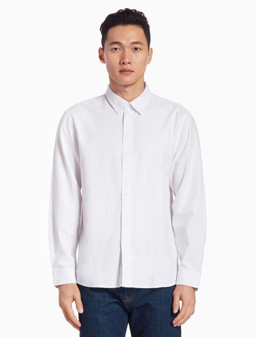 CALVIN KLEIN SOLID COLOR OXFORD SHIRT