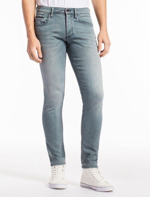 CALVIN KLEIN DRIZZLE BLUE GREY STRAIGHT TAPER JEANS