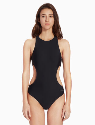 CALVIN KLEIN CUT-OUT ONE PIECE SWIMSUIT