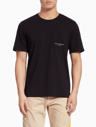 CALVIN KLEIN LOGO POCKET SHORT-SLEEVE TEE