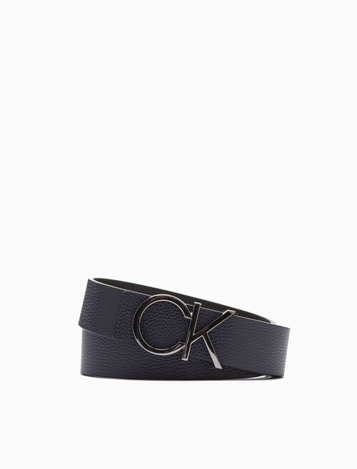 CALVIN KLEIN REVERSIBLE CK LOGO BUCKLE BELT