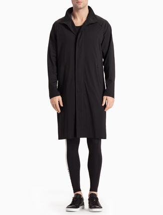 CALVIN KLEIN LONG JACKET WITH STAND-UP COLLAR