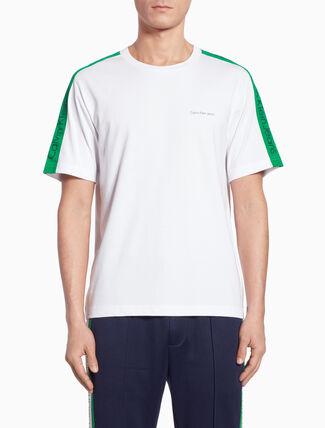 CALVIN KLEIN SIDE STRIPE ロゴ T シャツ