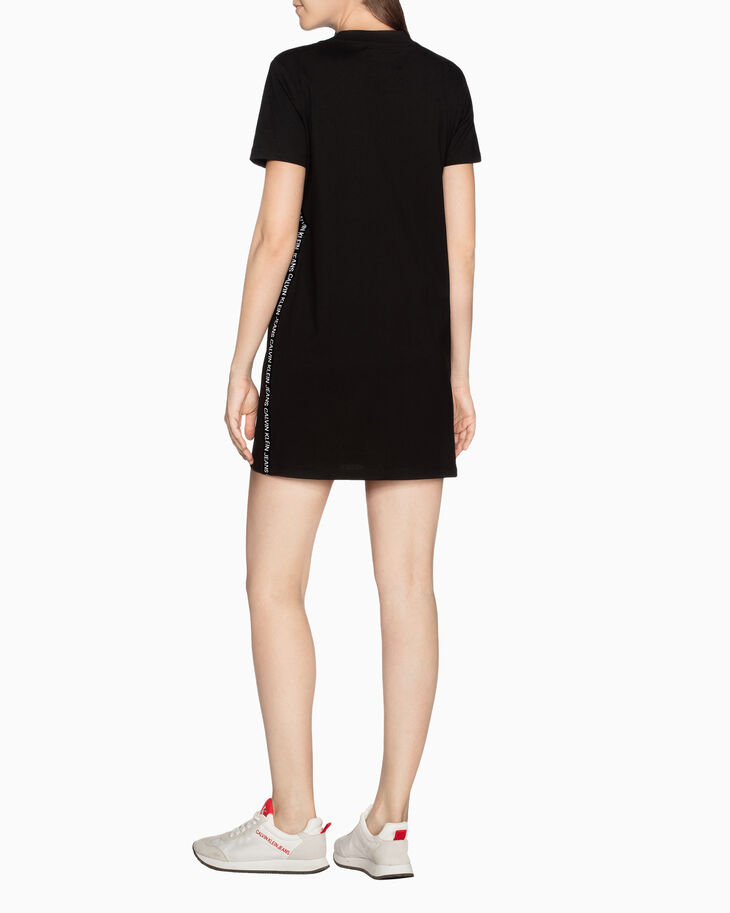 CALVIN KLEIN LOGO TAPE T-SHIRT DRESS