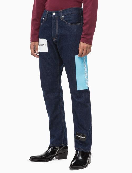 CALVIN KLEIN CKJ 035 LOGO 男士直筒牛仔褲