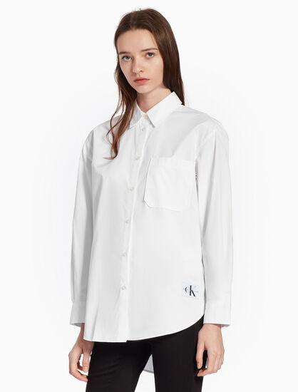CALVIN KLEIN WOVEN POPLIN コットンシャツ