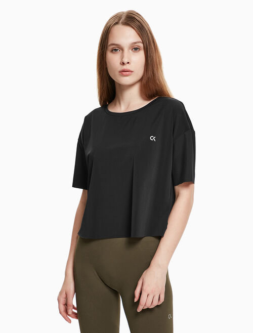 CALVIN KLEIN BOX FIT CROP TEE