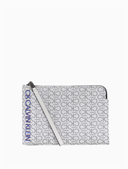 CALVIN KLEIN SMALL ALL OVER LOGO POUCH