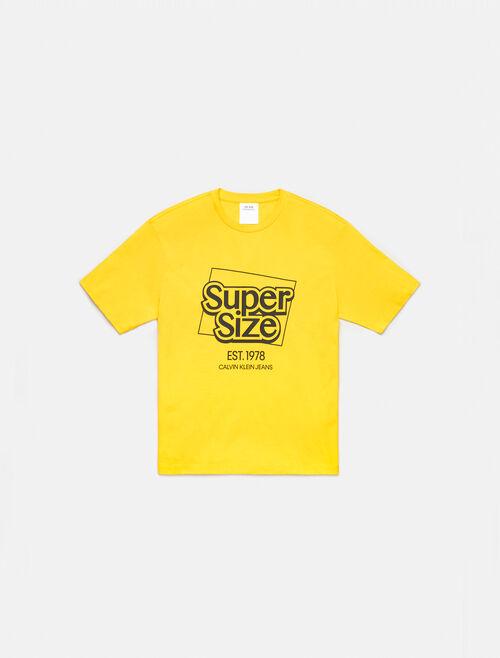 CALVIN KLEIN SUPER SIZE GRAPHIC LOGO CREWNECK T-SHIRT