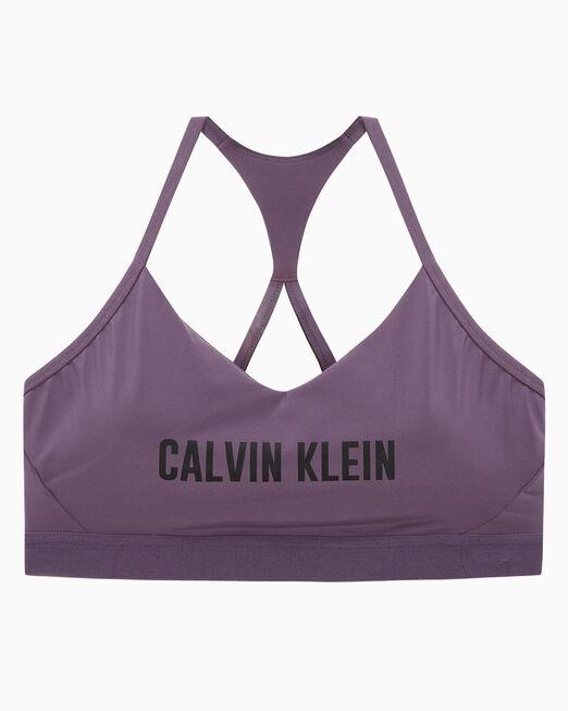 CALVIN KLEIN 여성 스트래피 백 브이 넥 로고 브라