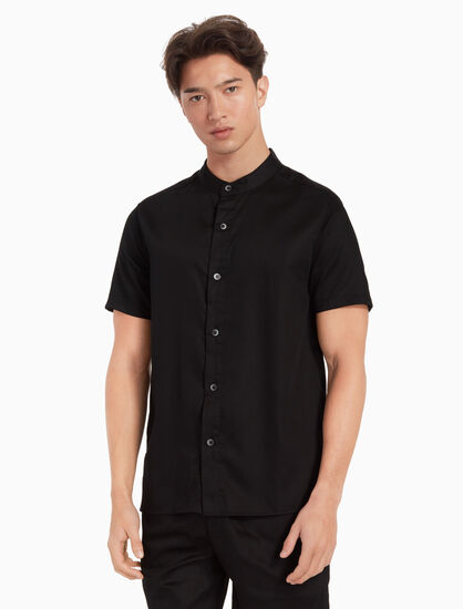 CALVIN KLEIN SHORT SLEEVE BUTTON DOWN SHIRT