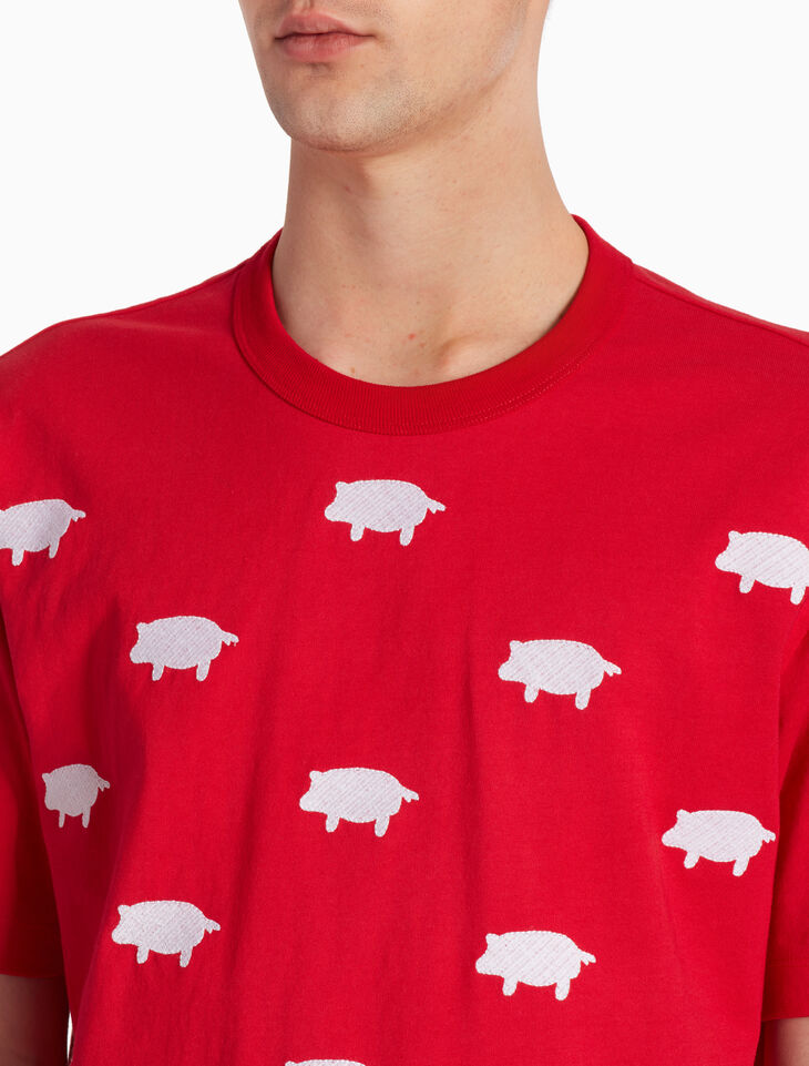 CALVIN KLEIN ANIMAL EMBROIDERY JERSEY TEE