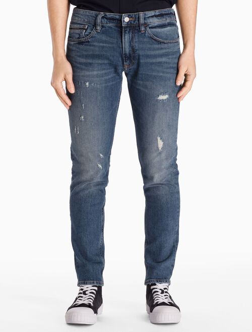CALVIN KLEIN VINTAGE B STRAIGHT TAPERED JEANS