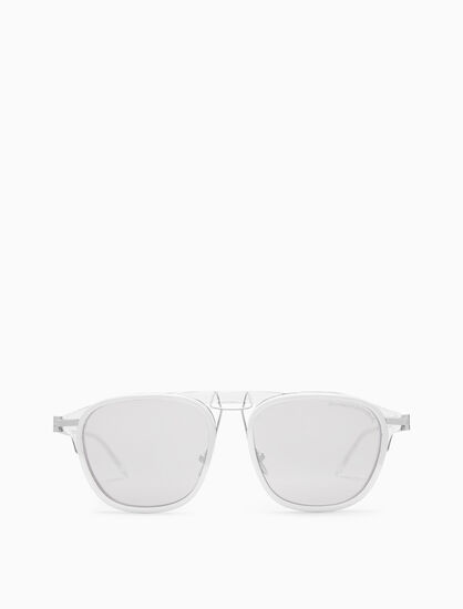 CALVIN KLEIN LAYERED ACETATE NAVIGATOR SUNGLASSES