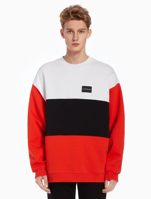 CALVIN KLEIN COLOR BLOCK INSTITUTIONAL SWEATSHIRT