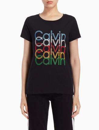CALVIN KLEIN MULTICOLORED ロゴ T シャツ