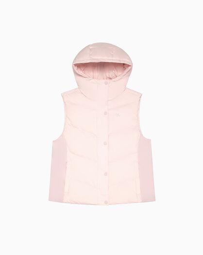 CALVIN KLEIN Short Length Down Vest with Hood