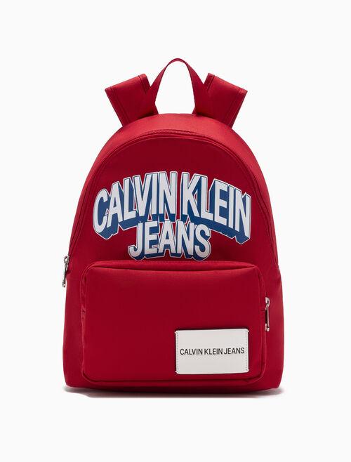CALVIN KLEIN GIRLS プリント キャンパス バックパック