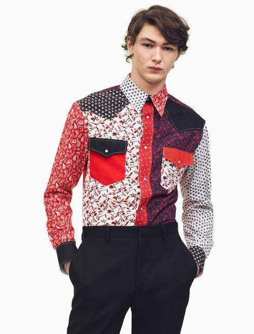 CALVIN KLEIN Patchwork Calico Shirt