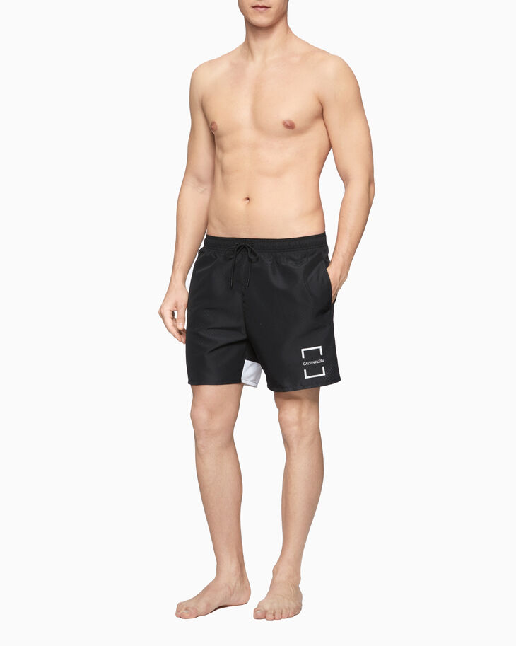 CALVIN KLEIN CORE OFFSET MEDIUM DRAWSTRING SHORTS