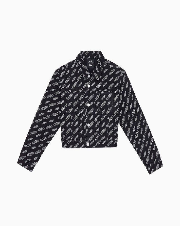 CALVIN KLEIN CK50クロップド ロゴ デニムジャケット