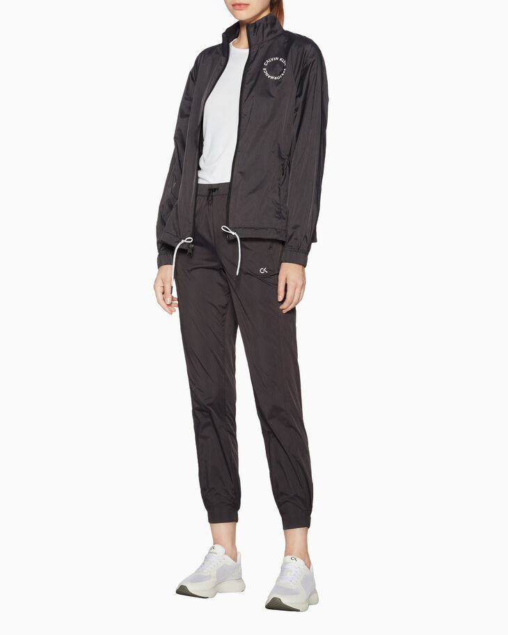 CALVIN KLEIN SPACE LINES HIP LENGTH JACKET