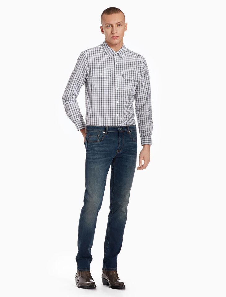 CALVIN KLEIN 포플린 체크 셔츠