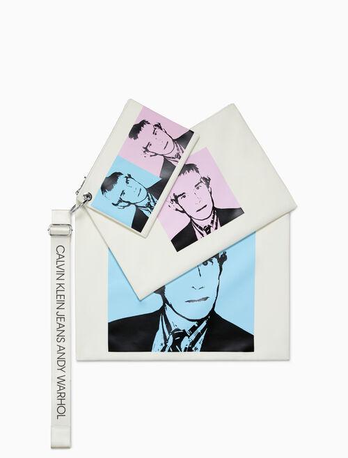CALVIN KLEIN Warhol Portrait Pouch Set