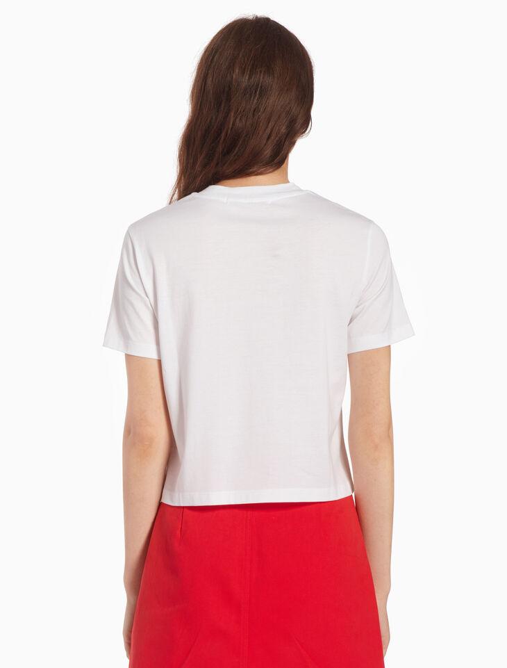 CALVIN KLEIN KNIT EMBROIDERED LOGO 티셔츠