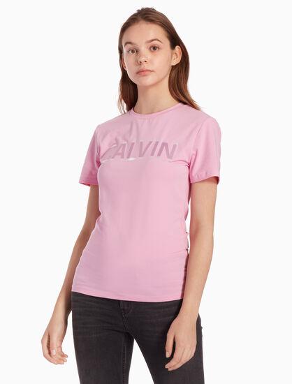 CALVIN KLEIN SATIN ロゴ T シャツ