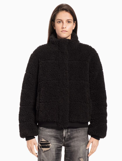 CALVIN KLEIN POLAR FLEECE PUFFER JACKET