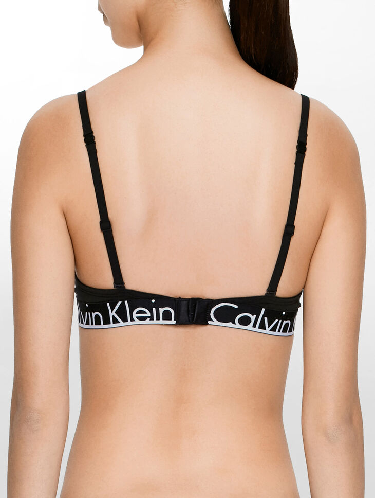 CALVIN KLEIN CALVIN KLEIN ID COTTON DEMI LIGHTLY LINED BRA