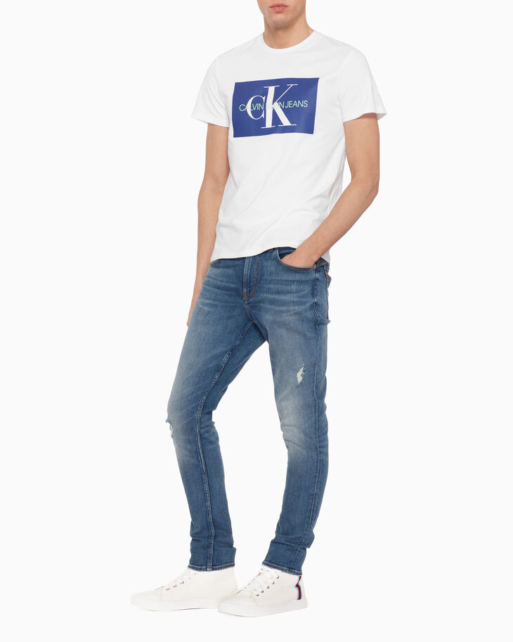 CALVIN KLEIN MONOGRAM PIXELATED PRINT 上衣
