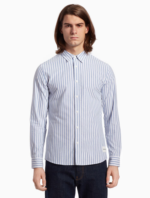 CALVIN KLEIN STRIPED OXFORD SHIRT