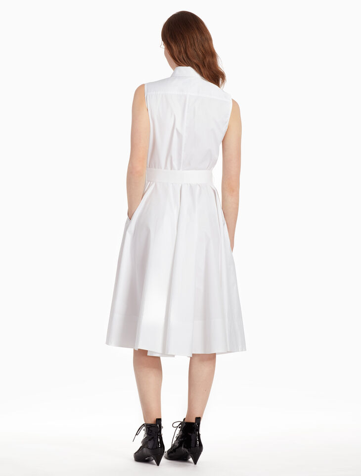 CALVIN KLEIN Z TWIST SLEEVELESS DRESS WITH BELT