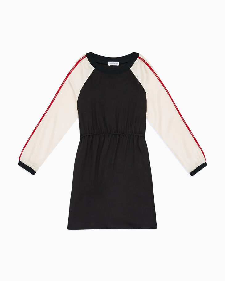 CALVIN KLEIN GIRLS LOGO TAPE RAGLAN DRESS