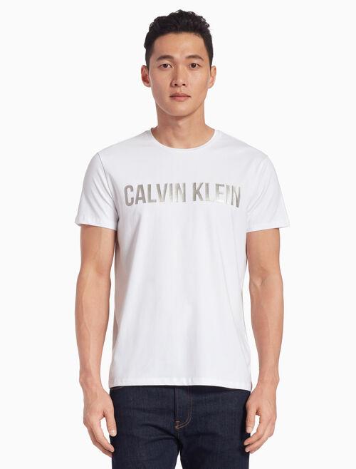 CALVIN KLEIN メタリックロゴ T シャツ