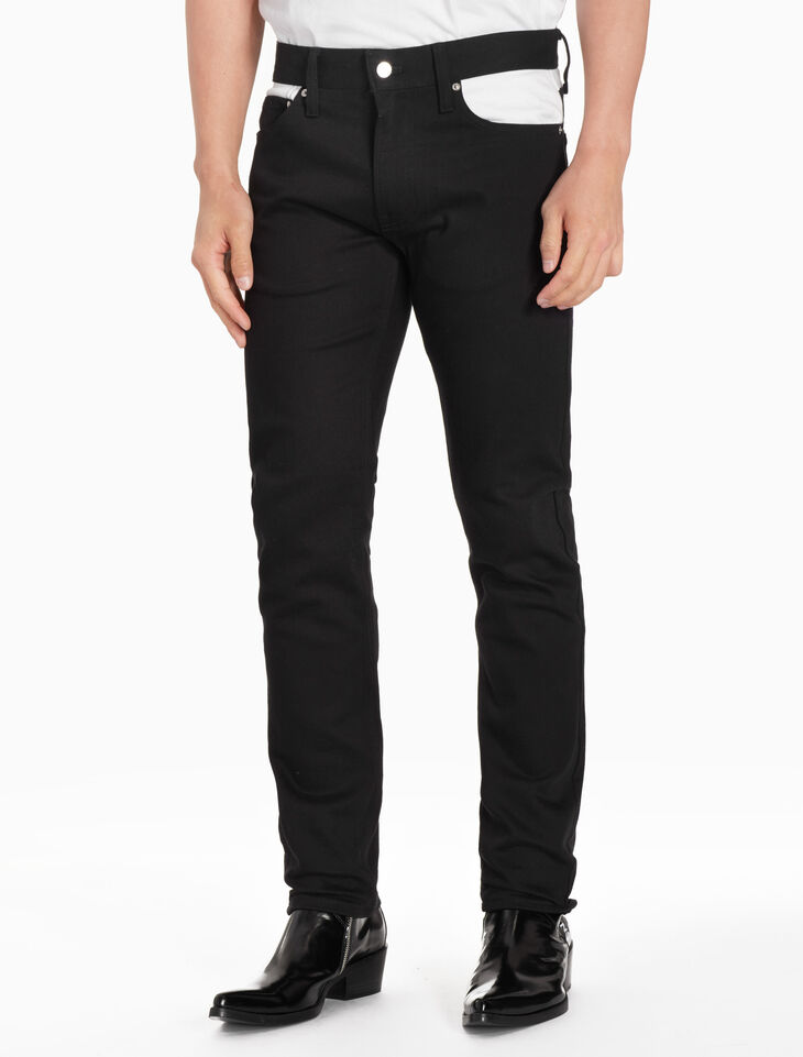 CALVIN KLEIN CKJ 026 MEN COLOR BLOCK SLIM JEANS