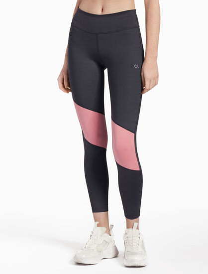 CALVIN KLEIN COLOR PANEL ANKLE LEGGINGS