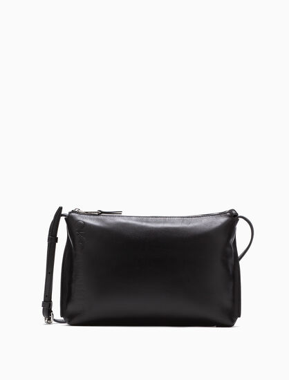 CALVIN KLEIN LOGO POUCH WITH REMOVABLE STRAP